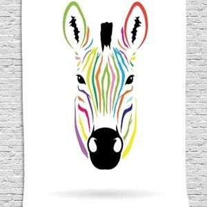 Tapestry Zebra Head Print Wall Hanging Backdrop
